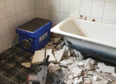 Staubfreies Arbeiten bei der Bad Sanierung