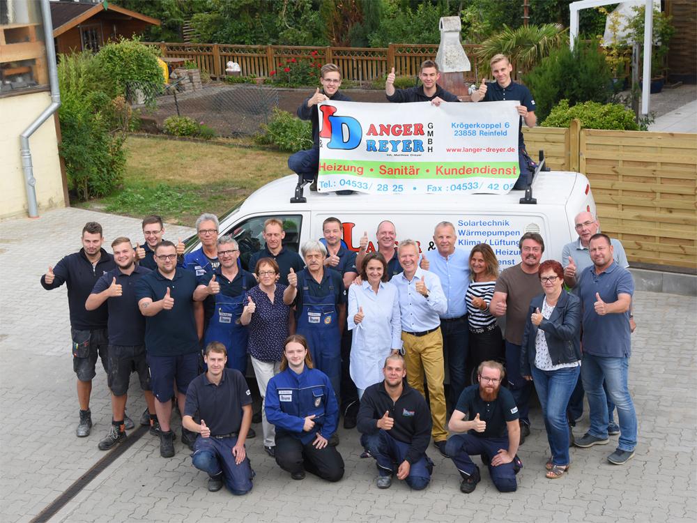Das Team Heizungsanlagen, Sanitärinstallationen und Luftreinigung