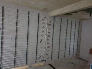 Auch als Wandtrockenbaulösung für die energetische Renovierung einsetzbar.